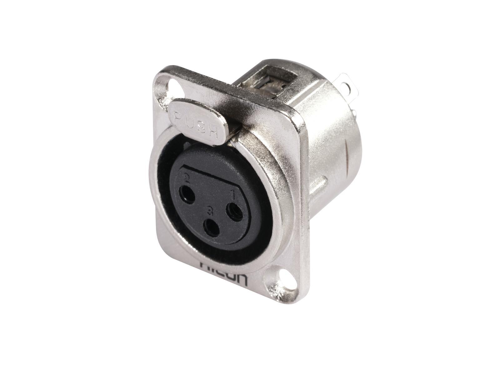 HICON XLR montaggio plug 3pin HI-X3DF