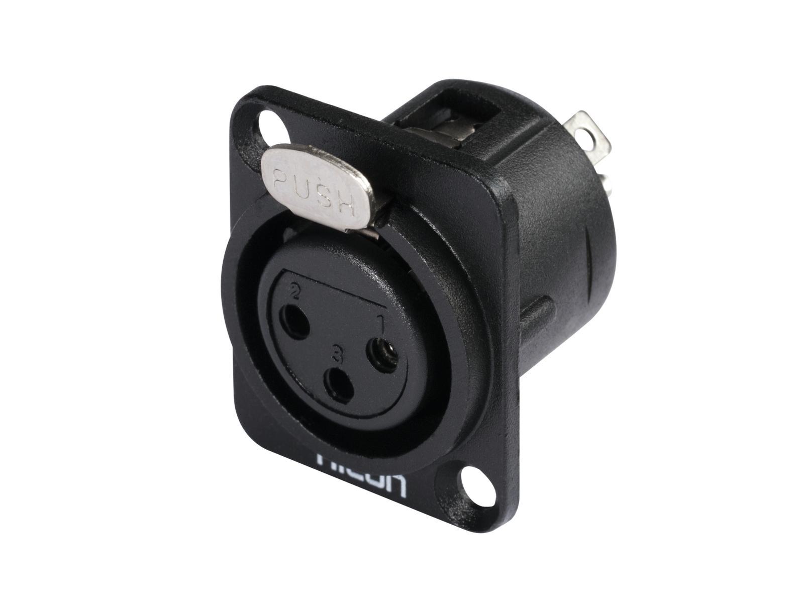 HICON XLR montaggio plug 3pin HI-X3DF-M