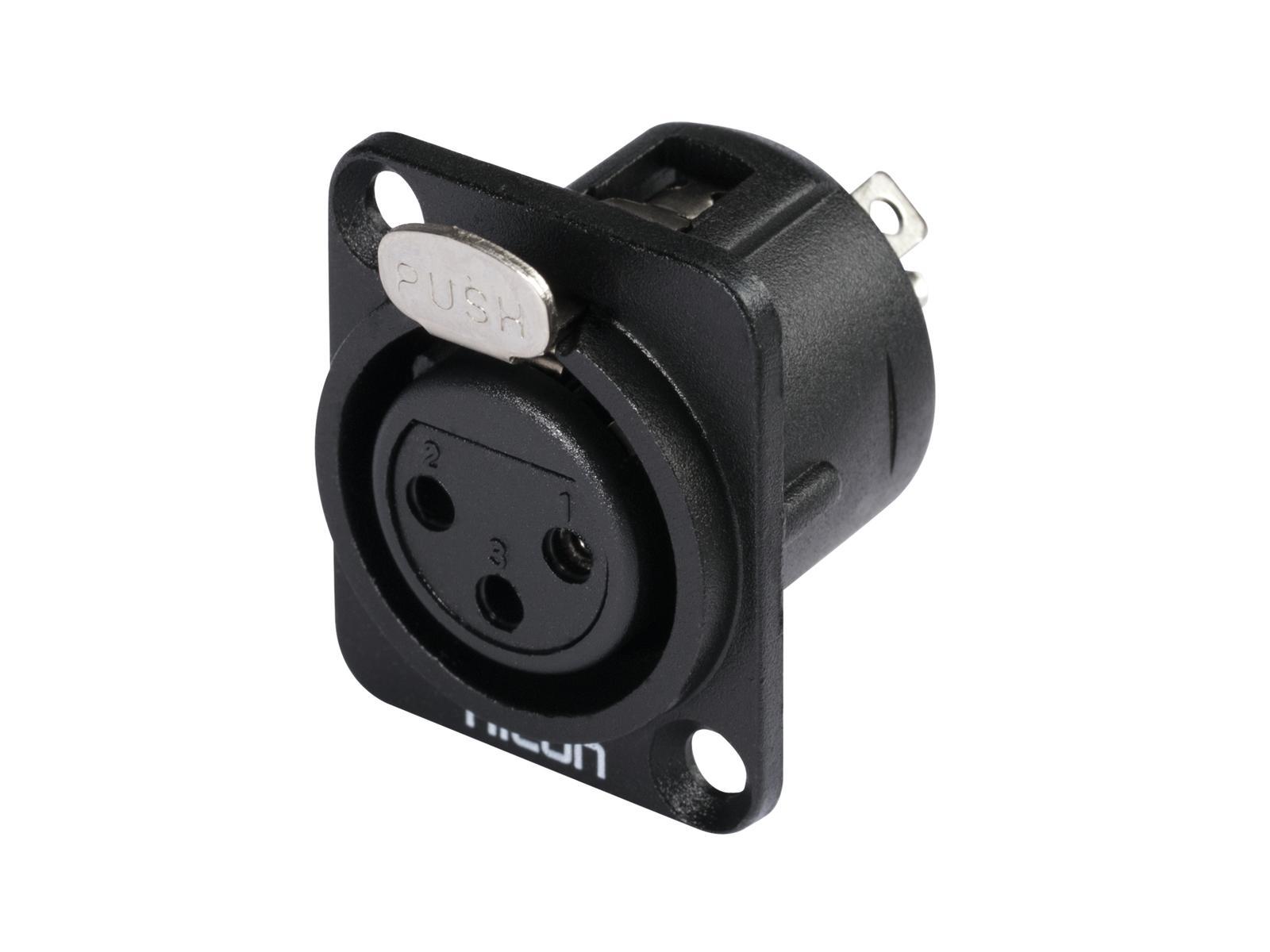 HICON XLR montaggio plug 3pin HI-X3DF-G