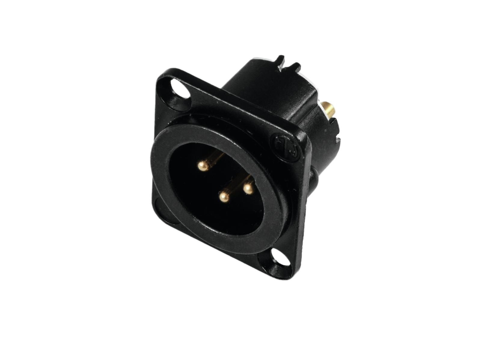 NEUTRIK XLR montaggio plug 3pin NC3MD-LX-B