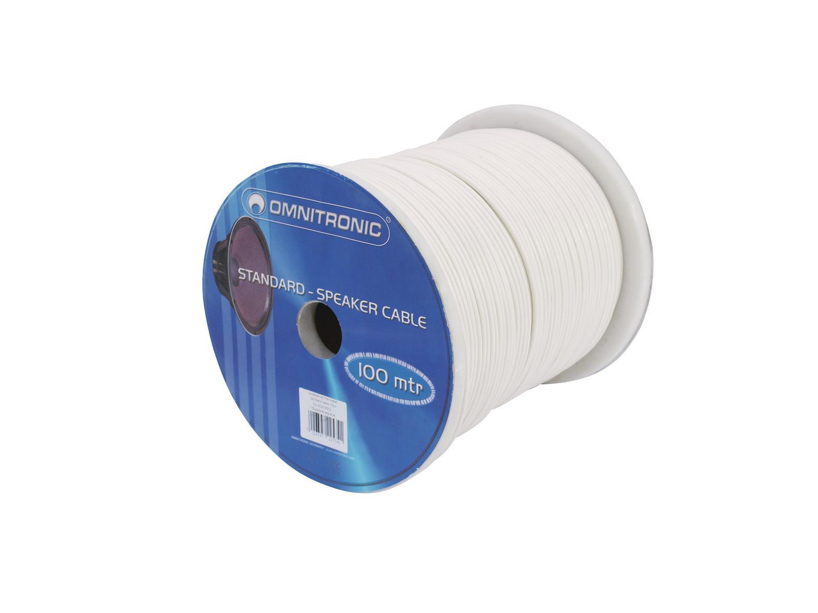 Cable Coil Coil Cable Bulk 2x1.5 100m OMNITRONIC White