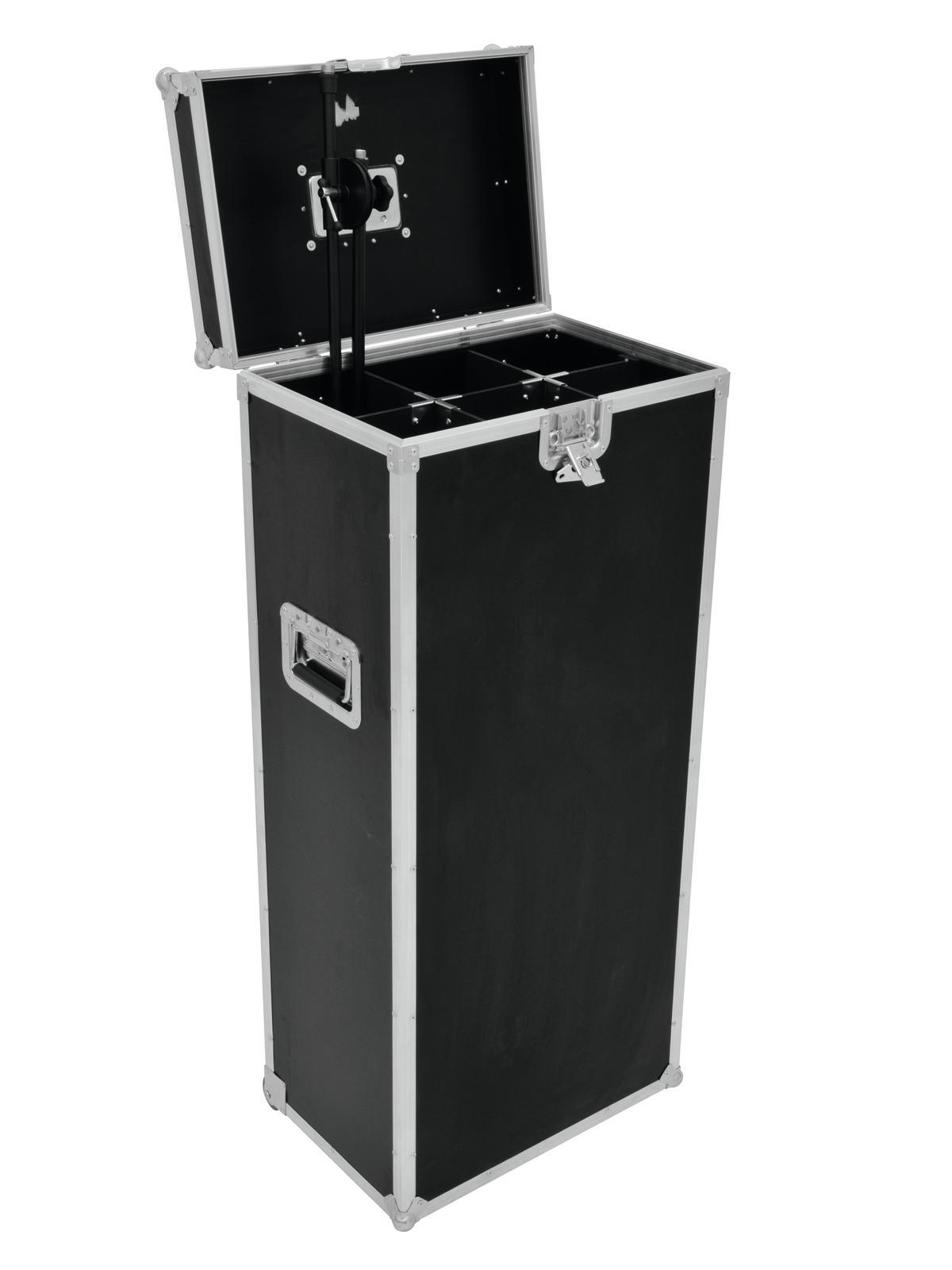 ROADINGER Flightcase 6x Mikrofonständer