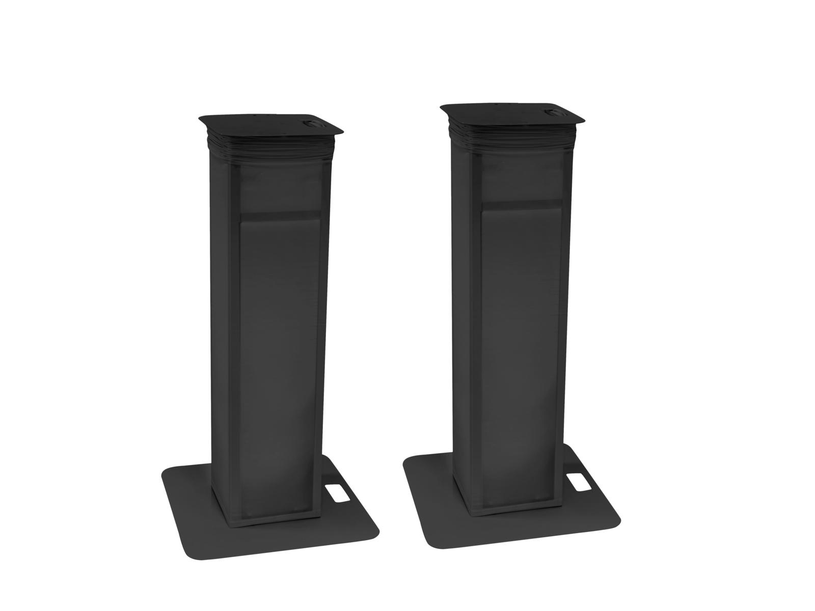 EUROLITE 2x Stage Stand variabel inkl. Cover und Tasche, schwarz