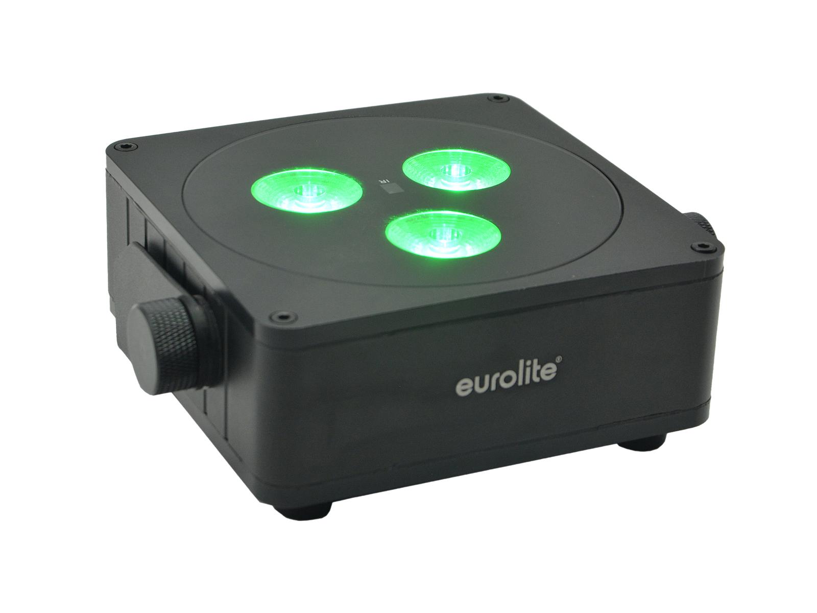 EUROLITE AKKU IP Flat Light 3 sw