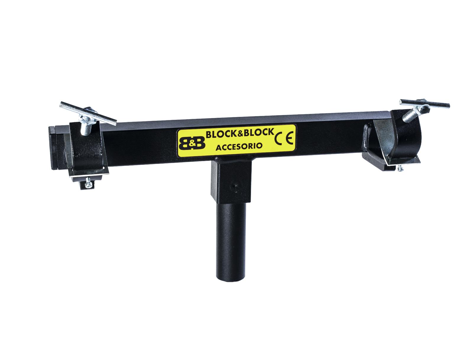 BLOCCO E BLOCCO AM3803 Traliccio lato di inserimento del supporto 38mm maschio