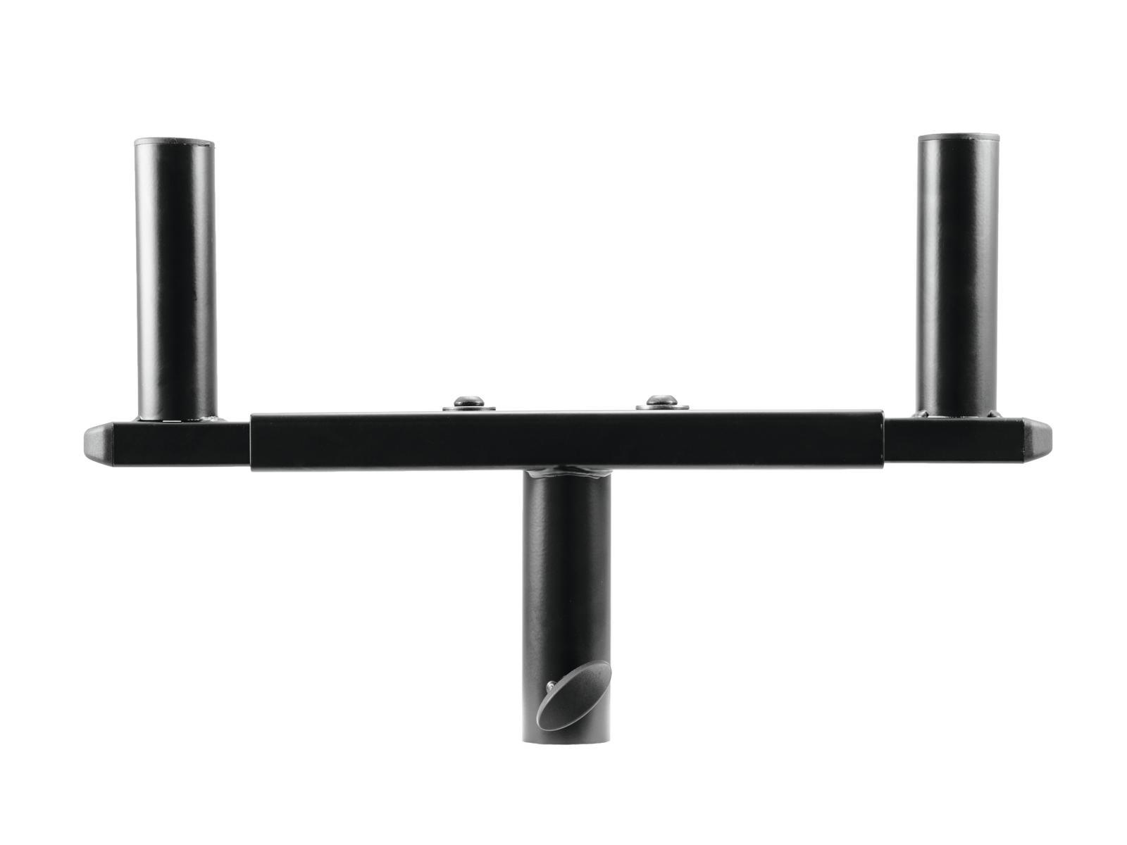 Adattatore per due casse Supporto stativo Distanza regolabile 310-490 mm