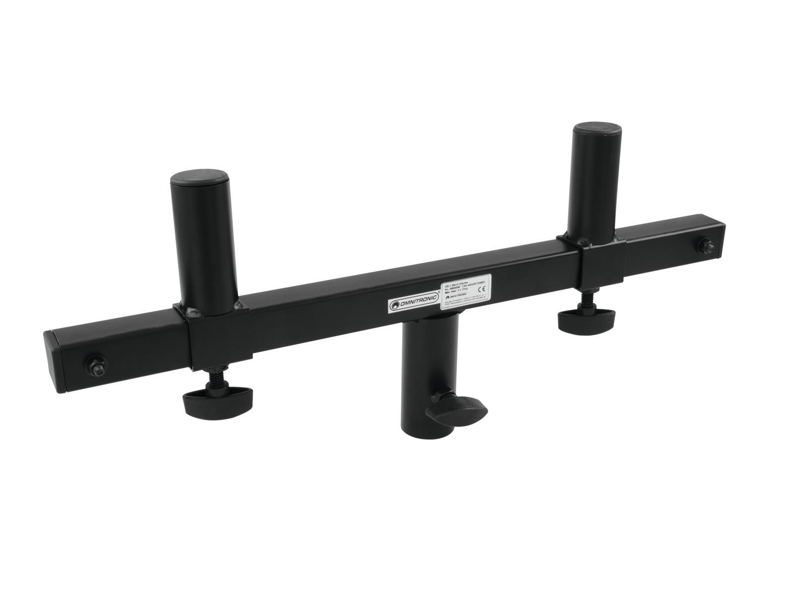 Adattatore per due casse Supporto stativo Distanza regolabile 310-450 mm GB-2