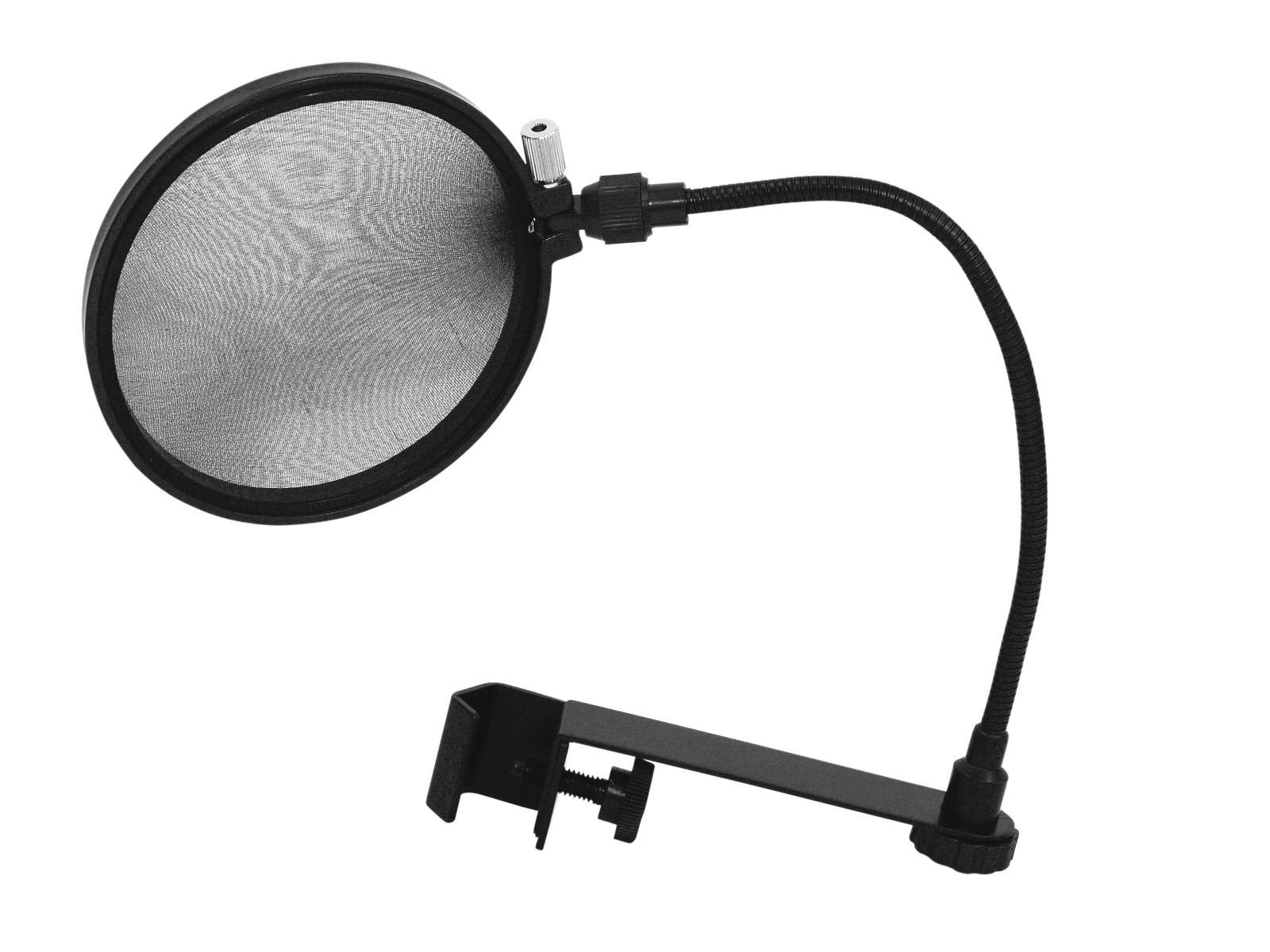 OMNITRONIC filtro antipop a collo d oca per Microfono da studio