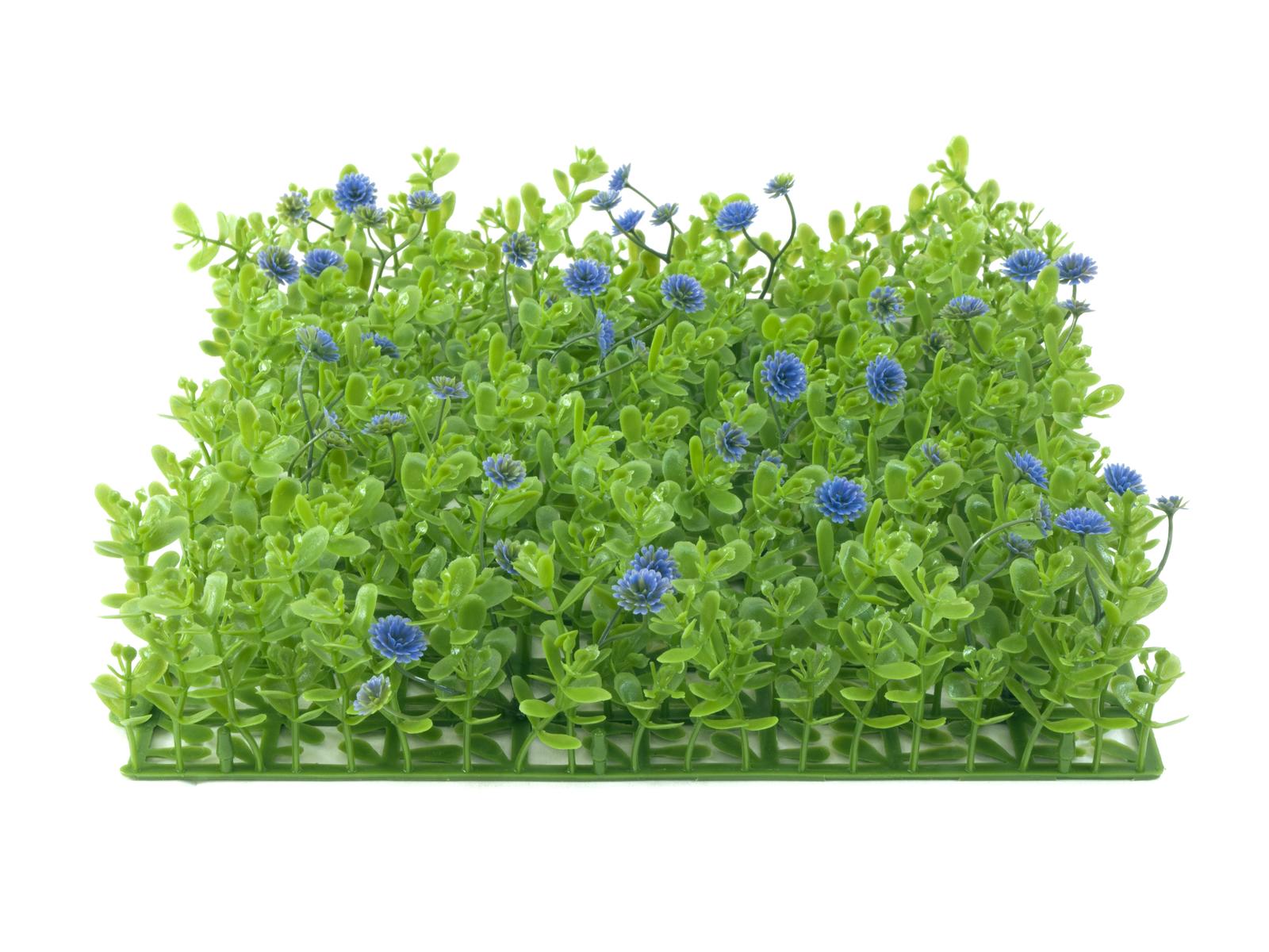 EUROPALMS Buchsmatte, künstlich, grün-lila, 25x25cm