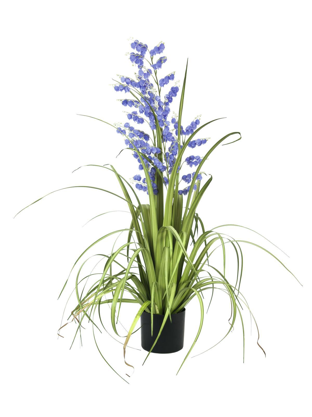 EUROPALMS Glockenblume, Kunstblume, lila, 105cm