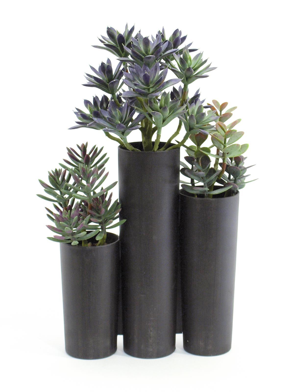 EUROPALMS pianta artificiale Succulente Trio  28 foglie altezza 43 cm