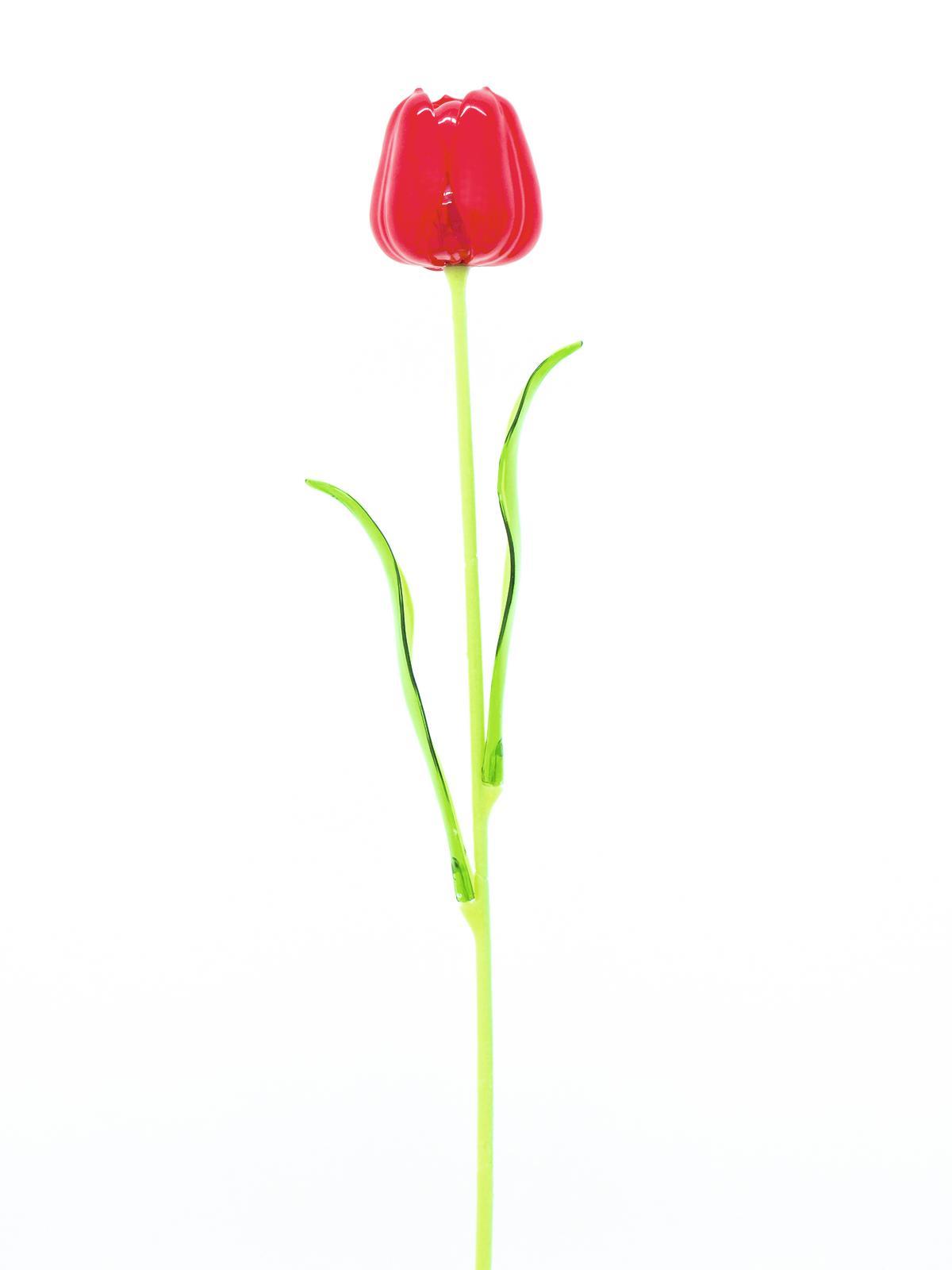 EUROPALMS Kristalltulpe, Kunstblume, rot, 61cm 12x
