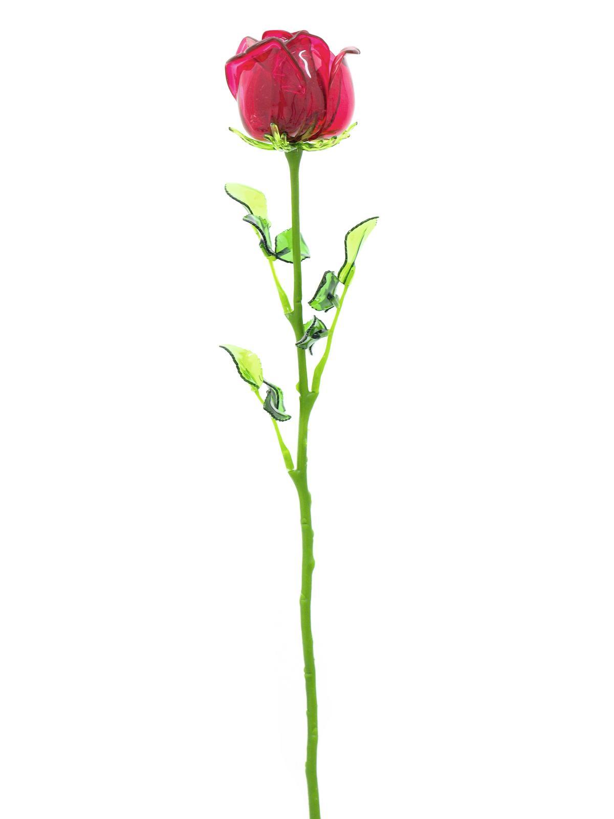 EUROPALMS Kristallrose, Kunstblume, burgund, 81cm 12x