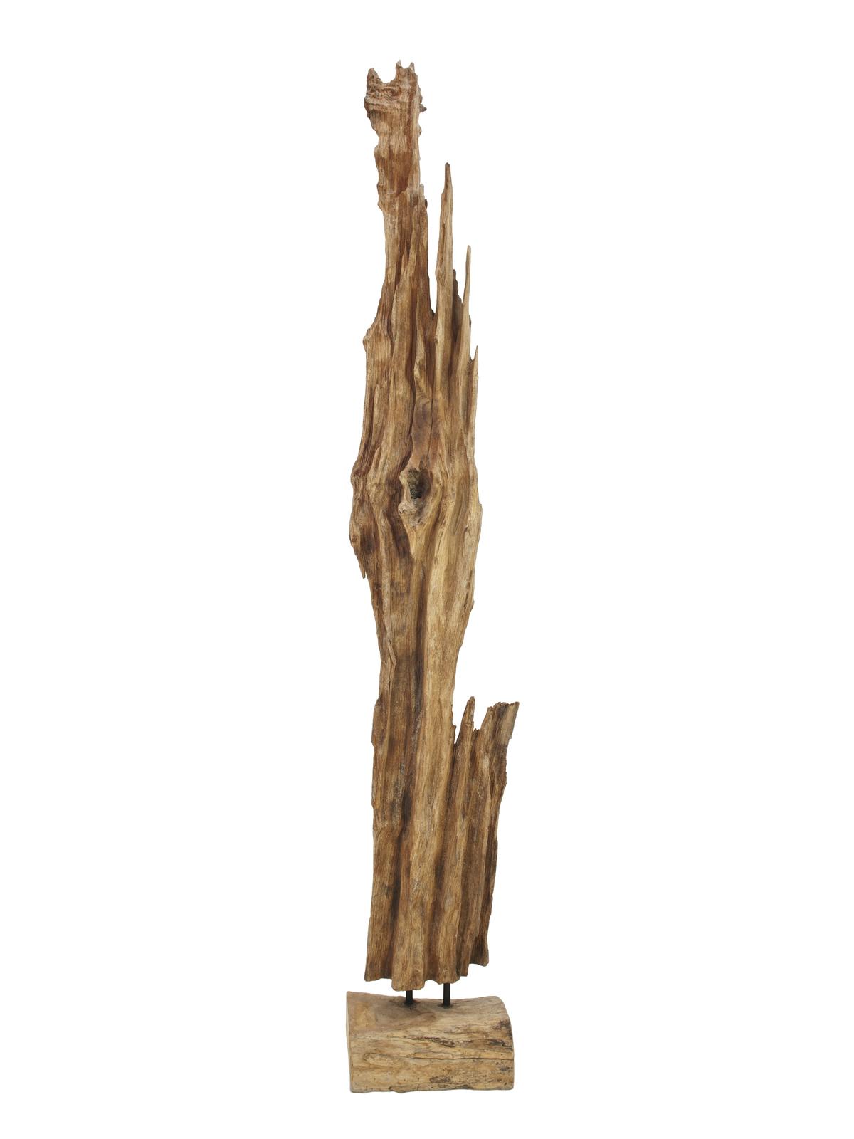 EUROPALMS Wurzelobjekt Teak natur, schmal 190cm