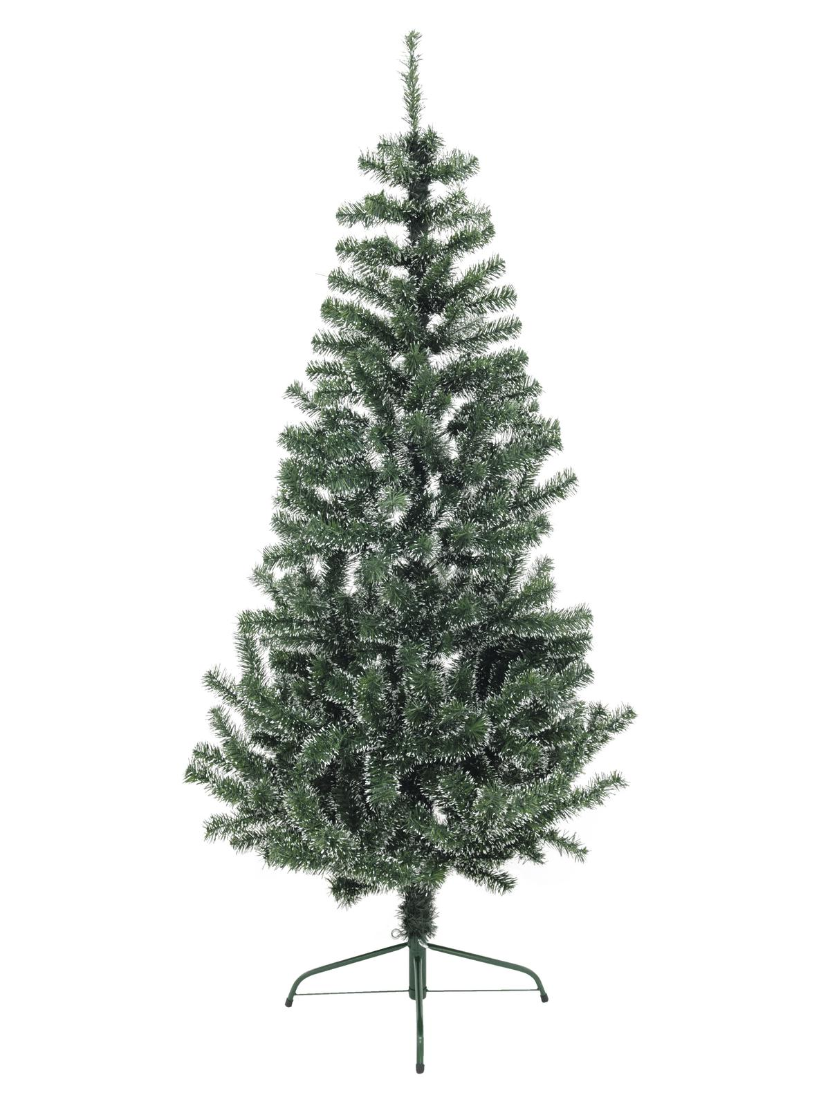 EUROPALMS Premium-Tanne, grün-weiß, 180cm