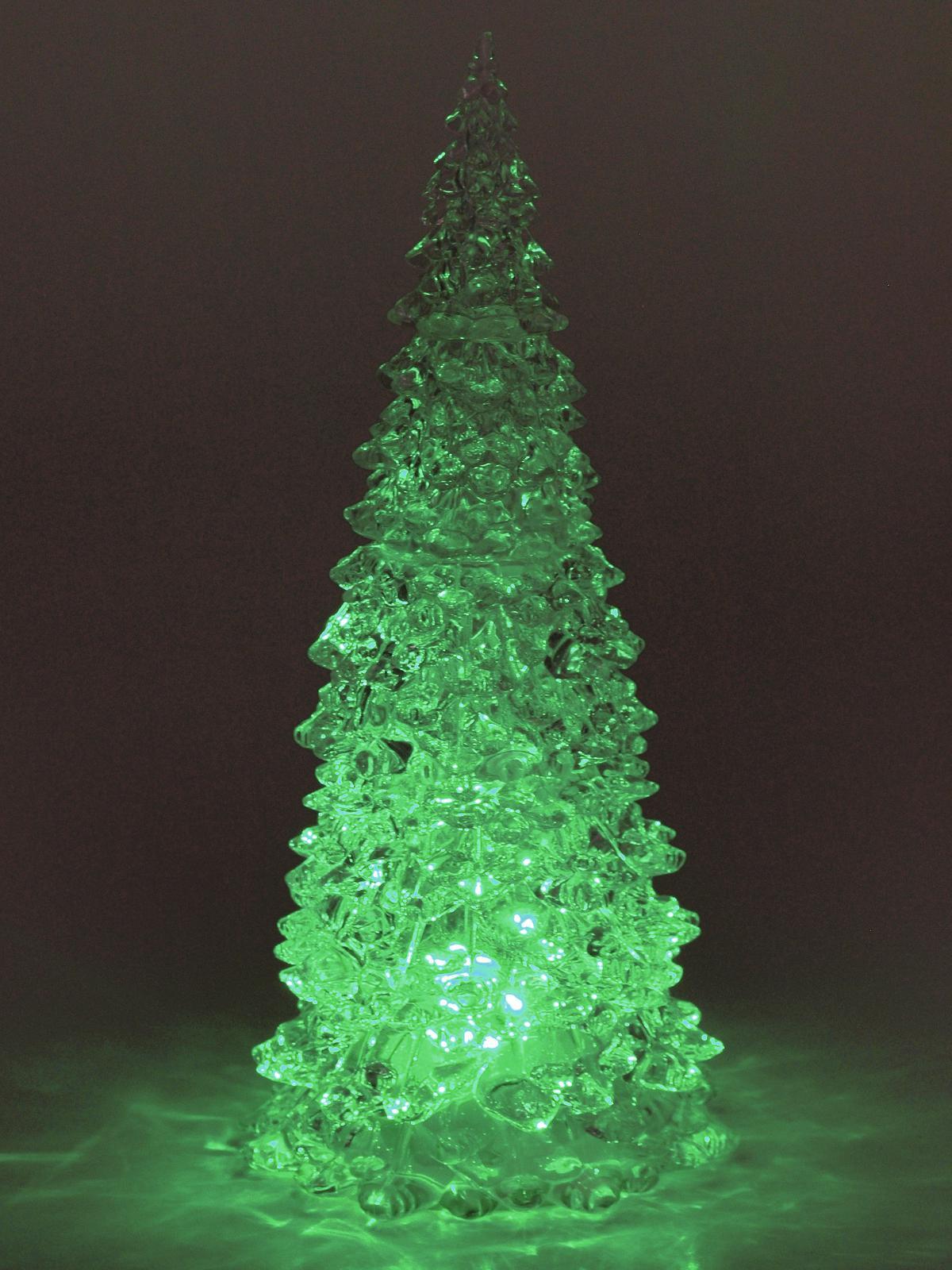 Christmas tree clear Plastic RGB Led 20W 28cm EUROPALMS