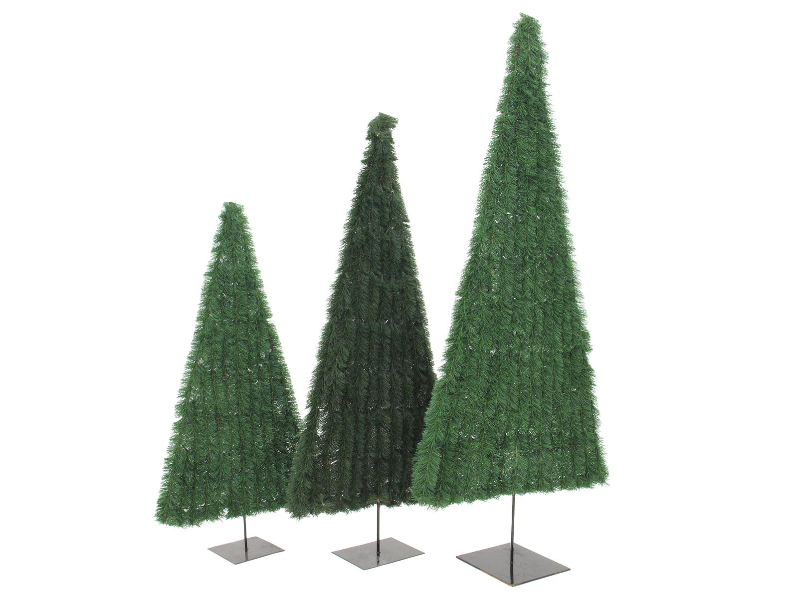 EUROPALMS Abete, piatta, di colore verde scuro, 150cm