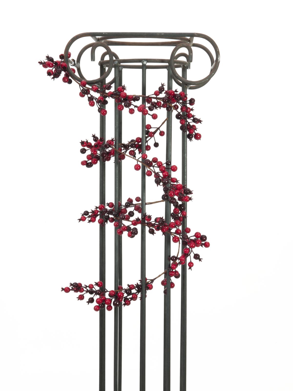 EUROPALMS Beerengirlande gemischt, künstlich, 180cm, rot