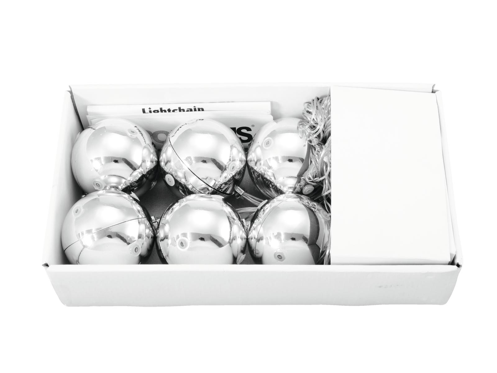 Palla sfera luminosa natalizia a 36 led bianchi 6 cm Europalms