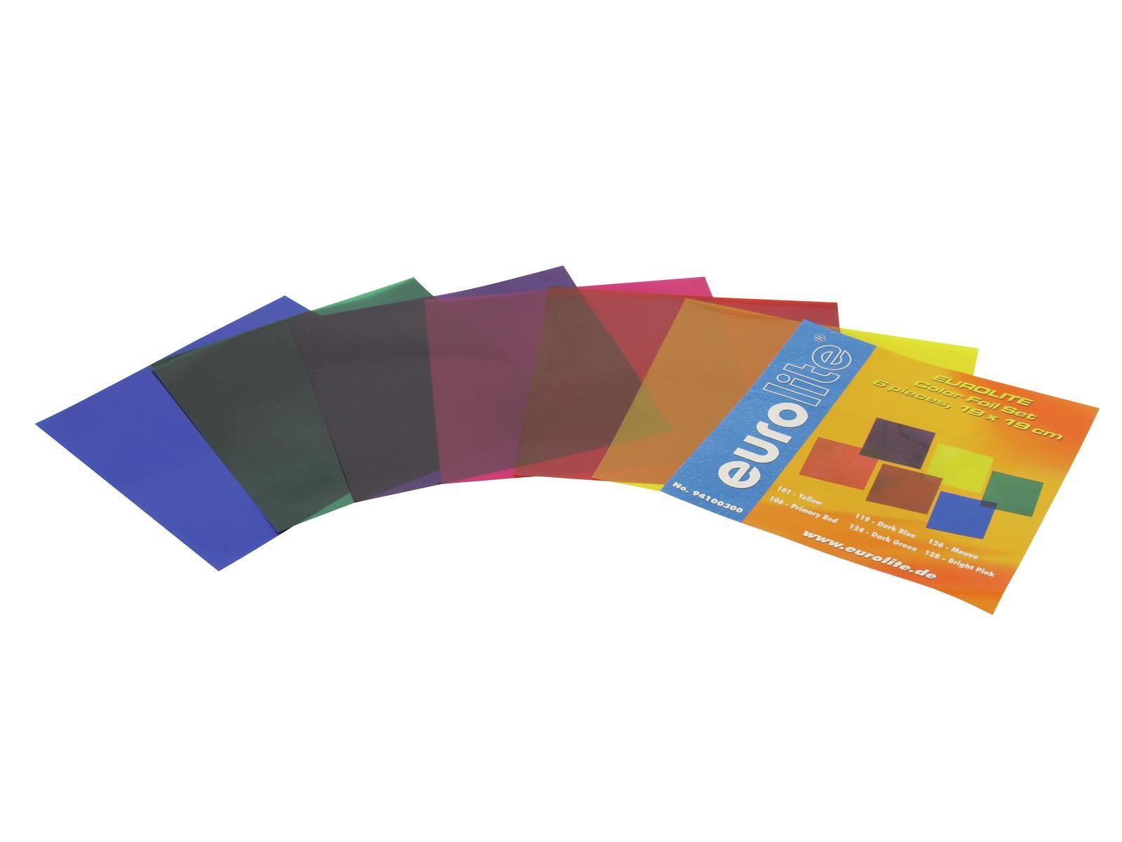 EUROLITE Colore-foil set 19x19cm, sei colori