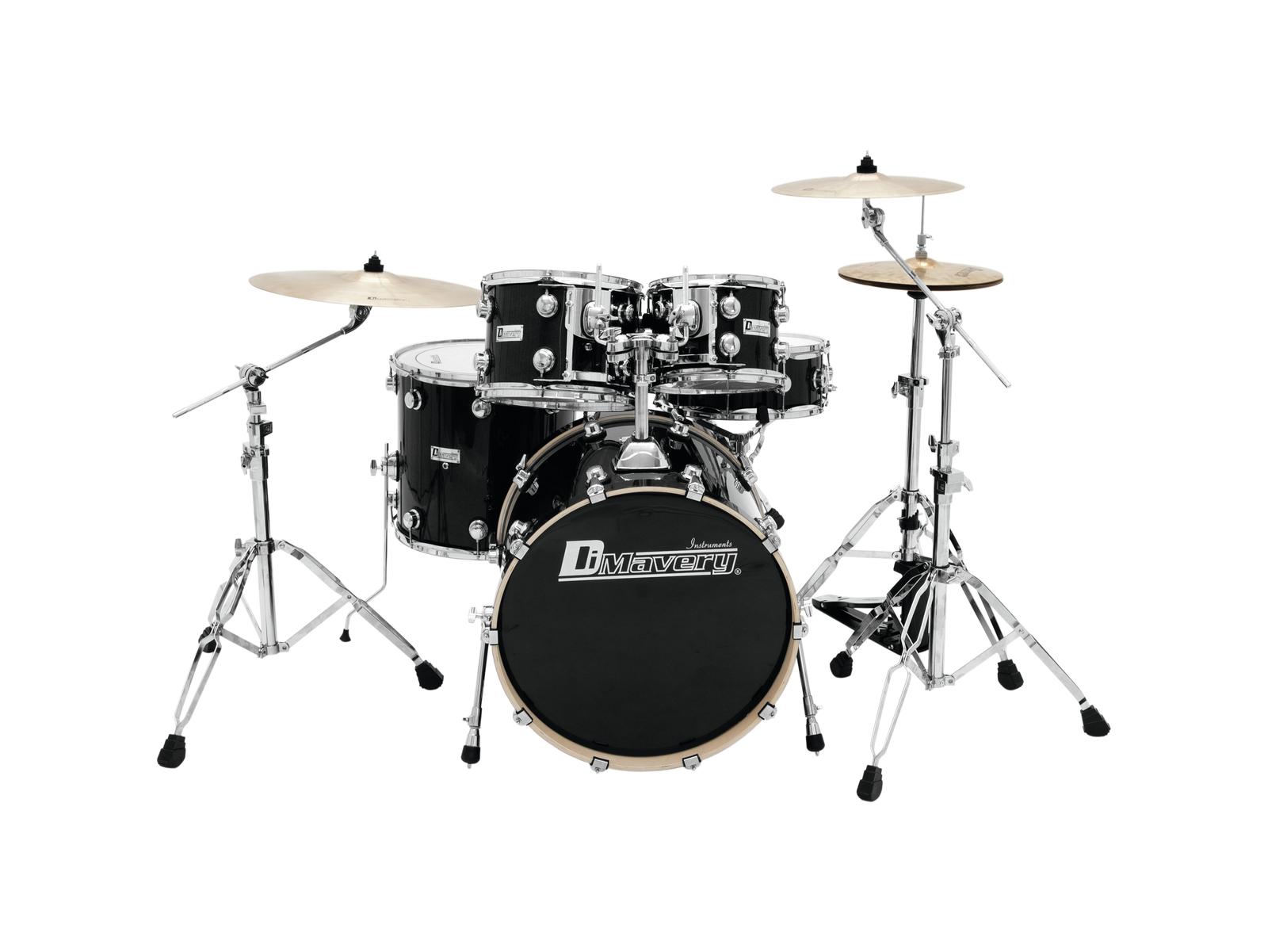DIMAVERY DS-610 Drum Set, Blac