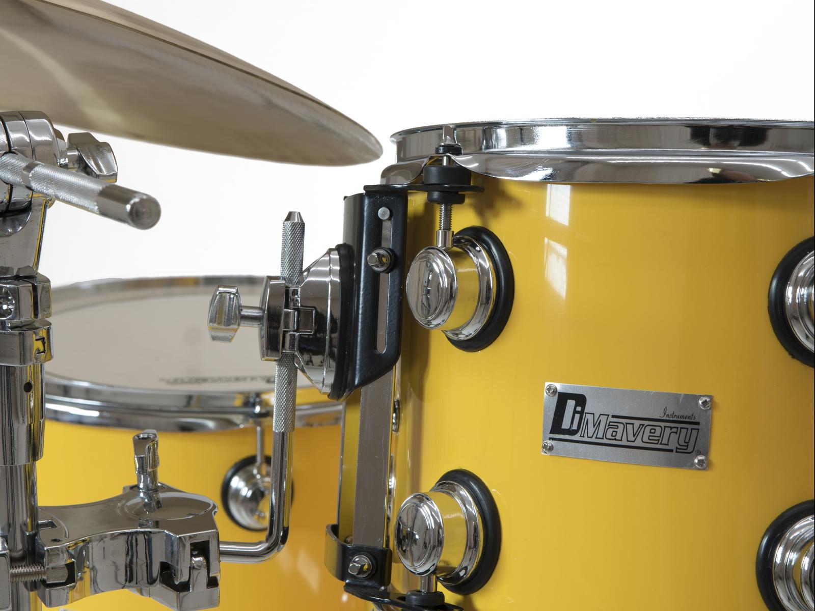 DIMAVERY DS-620 Schlagzeug-Set, gelb