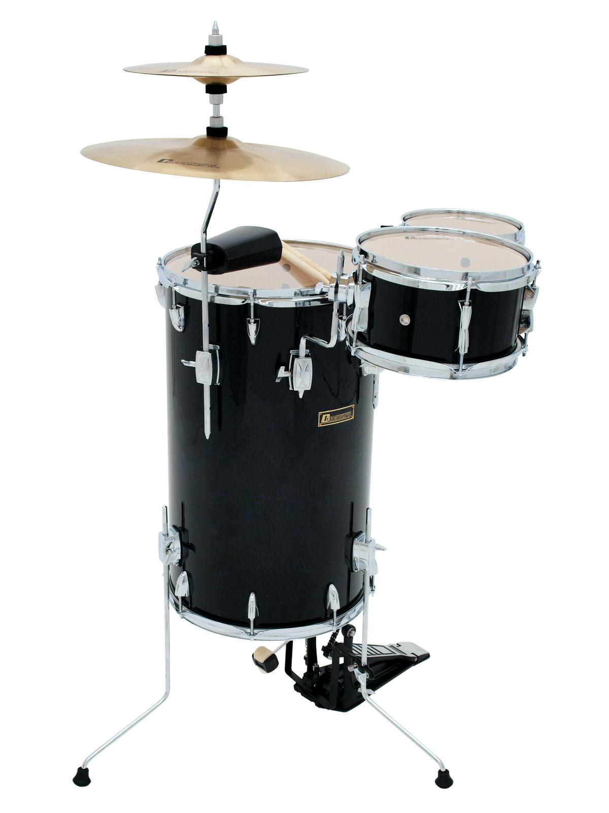 Batteria acustica, percussioni set, 5 pezzi, nero DIMAVERY CD