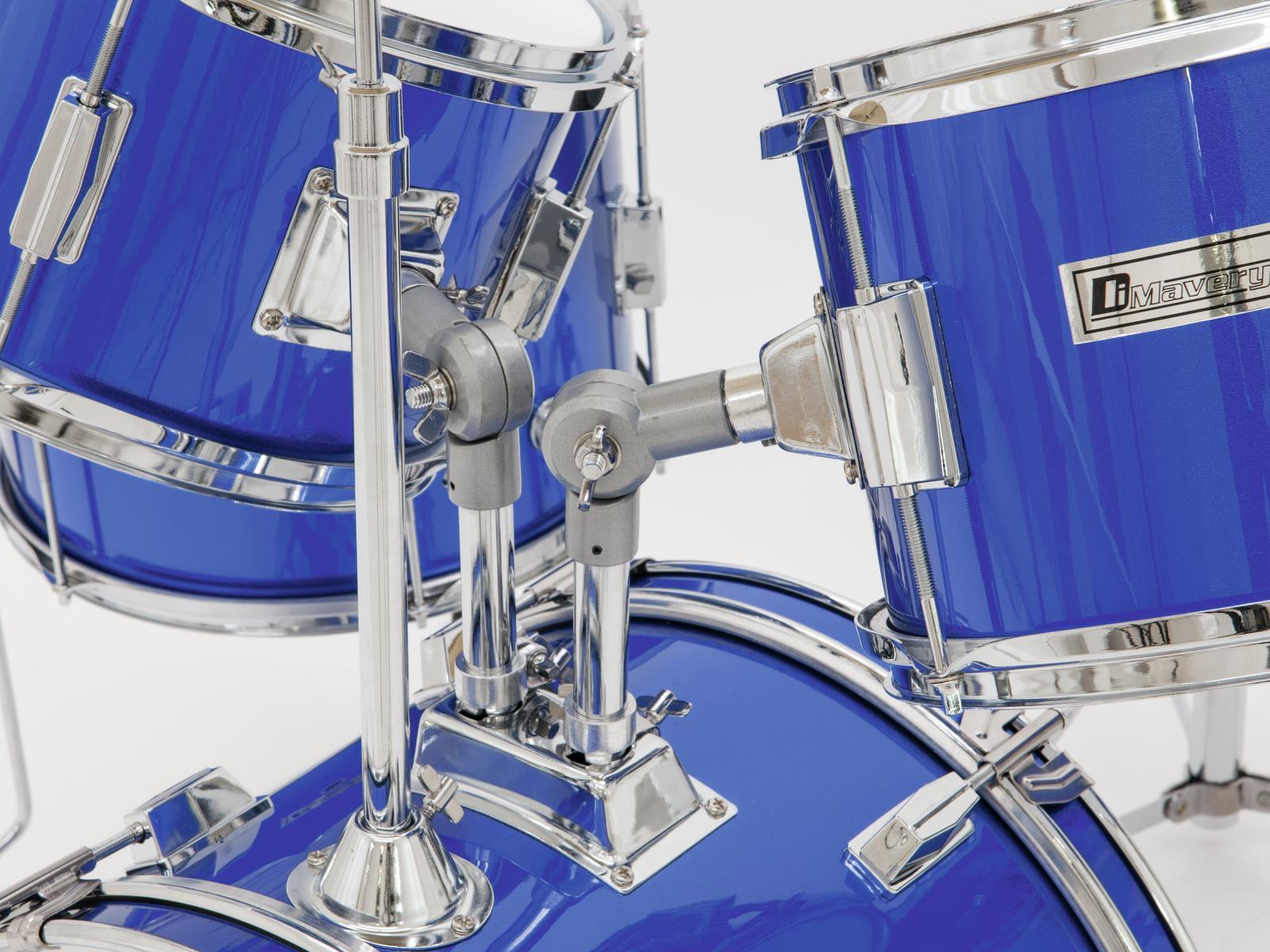 Batteria acustica per bambini, 5 pezzi blu, completa DIMAVERY JDS-305