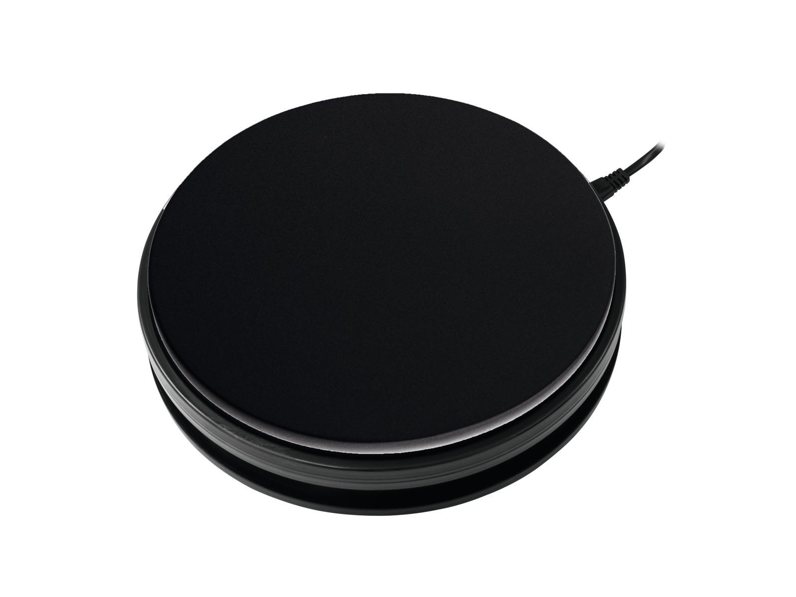 Base con piastra girevole nera 25 cm fino a 15 kg EUROPALMS
