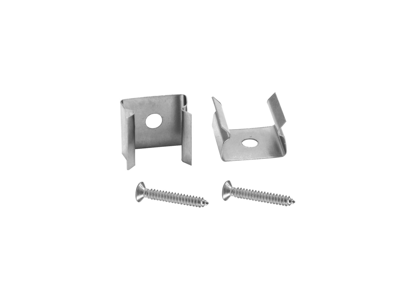 EUROLITE Halterung für Leer-Rohre 10x10mm Set 2x mit Schraube