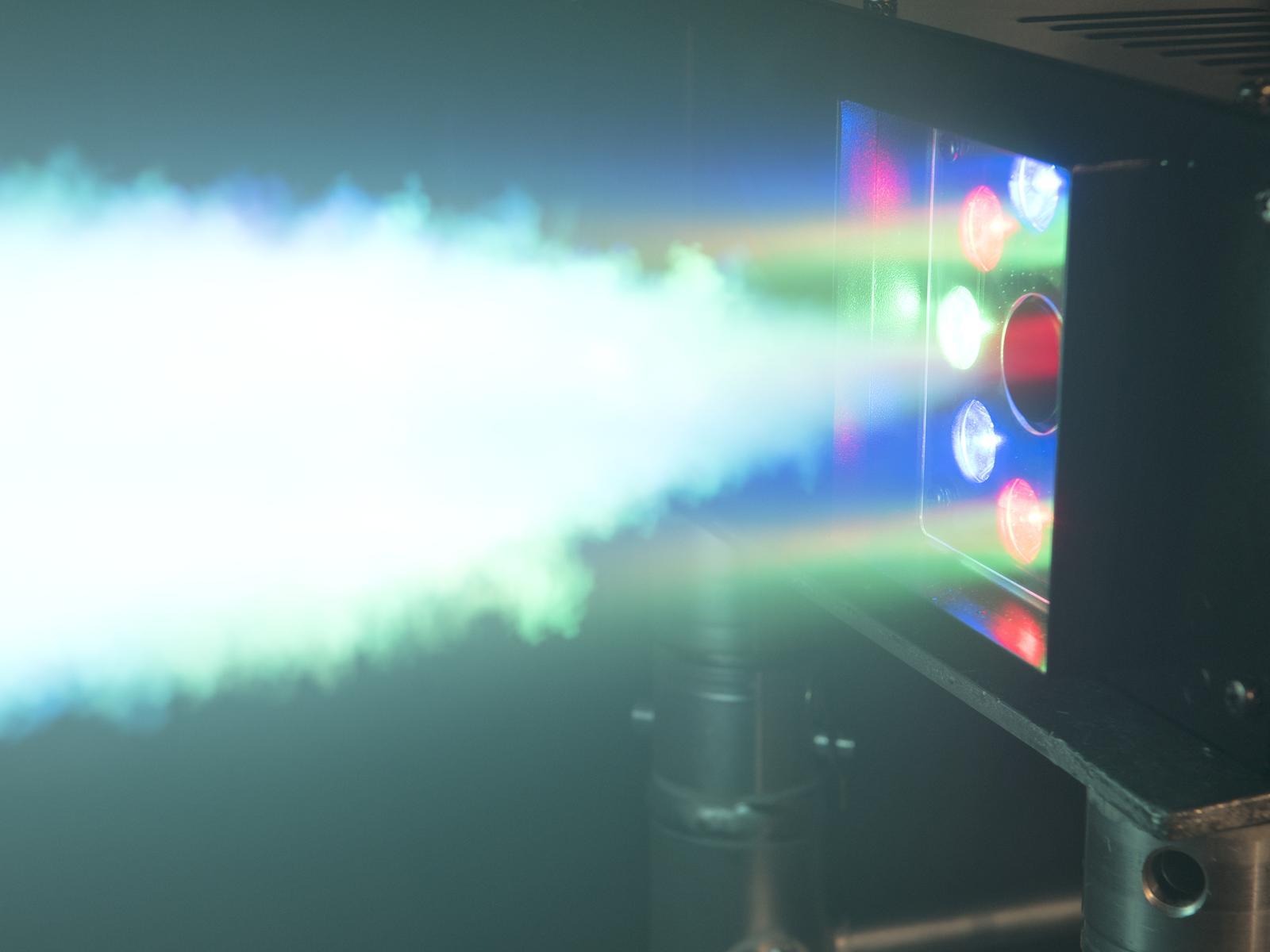 Macchina del fumo-nebbia con speciale illuminazione a led, DMX, EUROLITE NSF 250