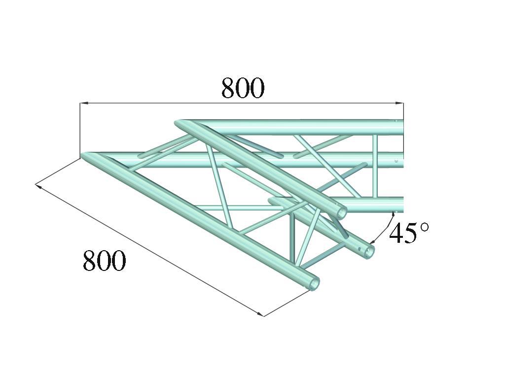 ALUTRUSS DECOLOCK DQ3-PAC19 2-angolo 45°