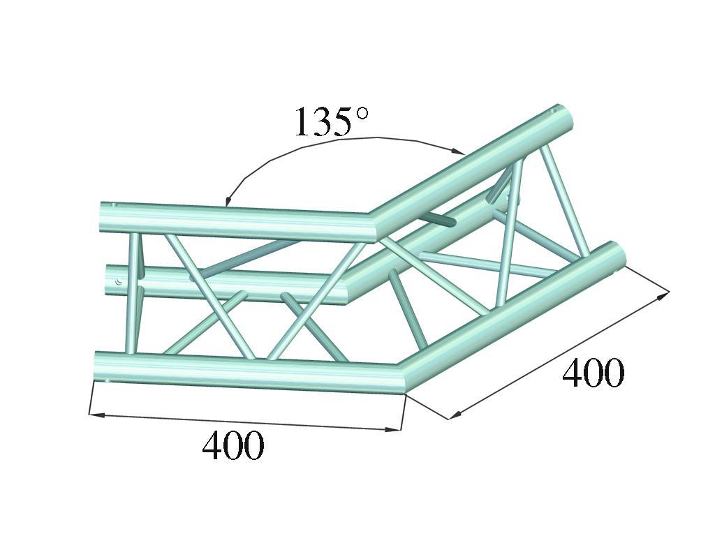 ALUTRUSS DECOLOCK DQ3-PAC23 a 2 vie angolo 135°