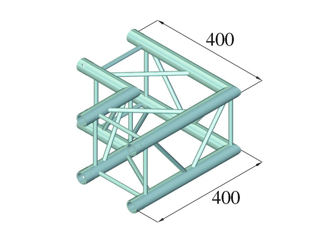 ALUTRUSS DECOLOCK DQ4-PAC21 a 2 vie angolo 90°