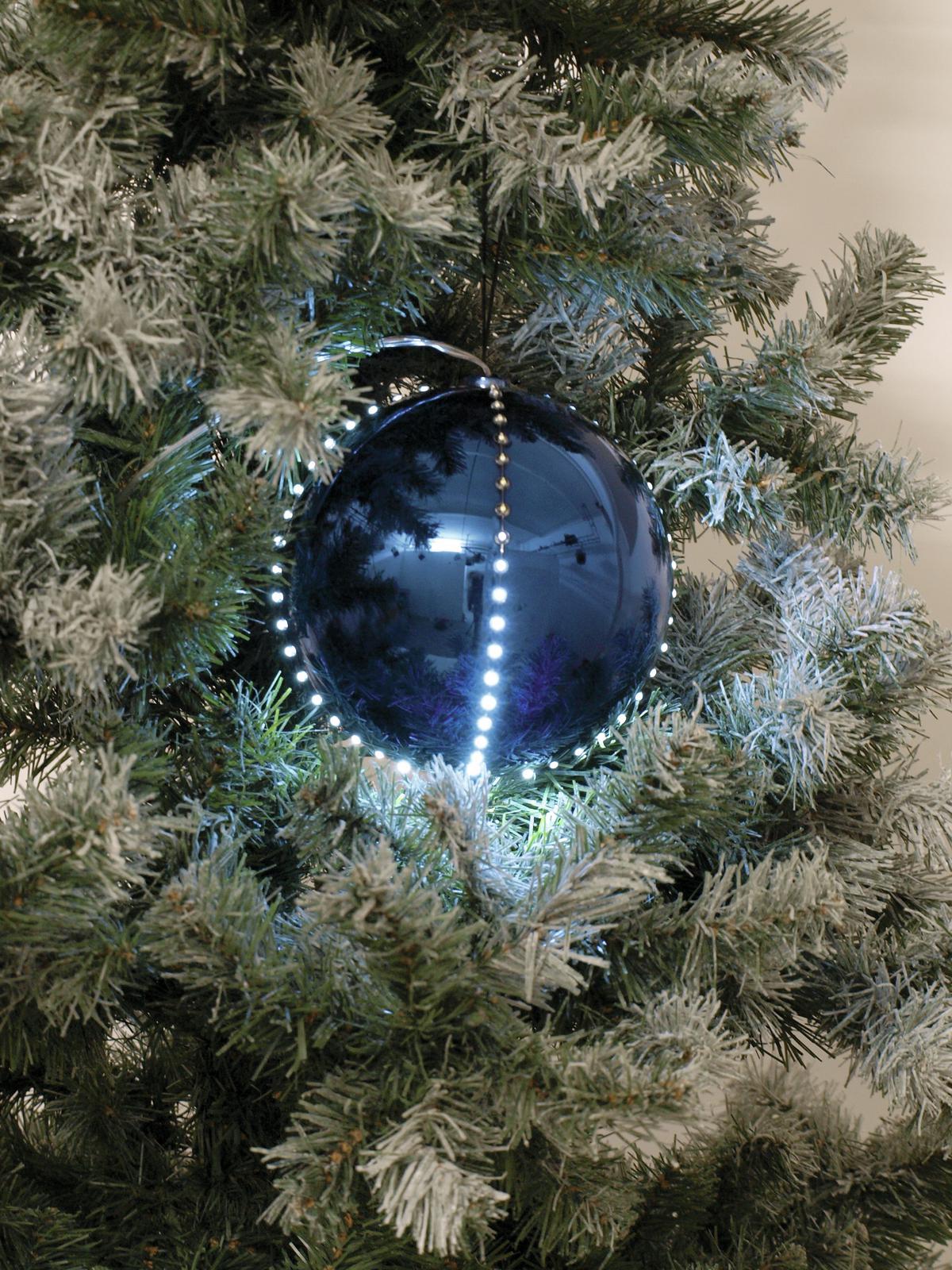 EUROPALMS LED palla di neve 8cm, blu scuro 5x