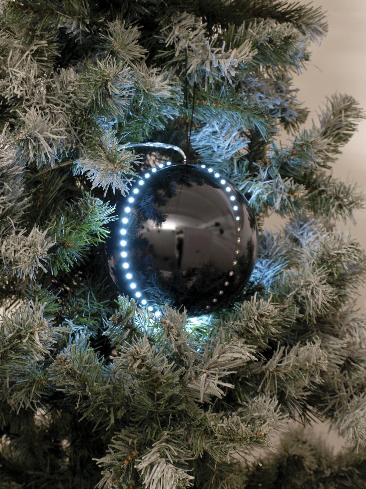 EUROPALMS LED palla di neve 15 cm, nero