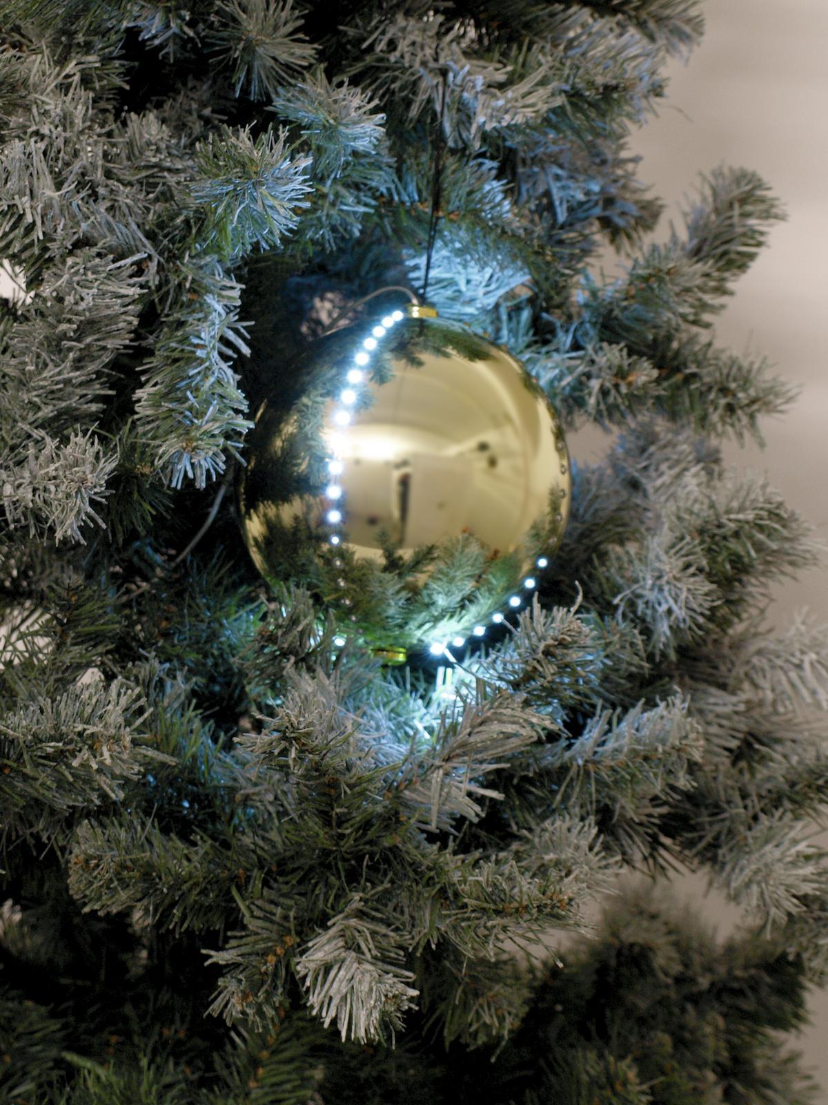 EUROPALMS LED palla di neve 15cm, oro