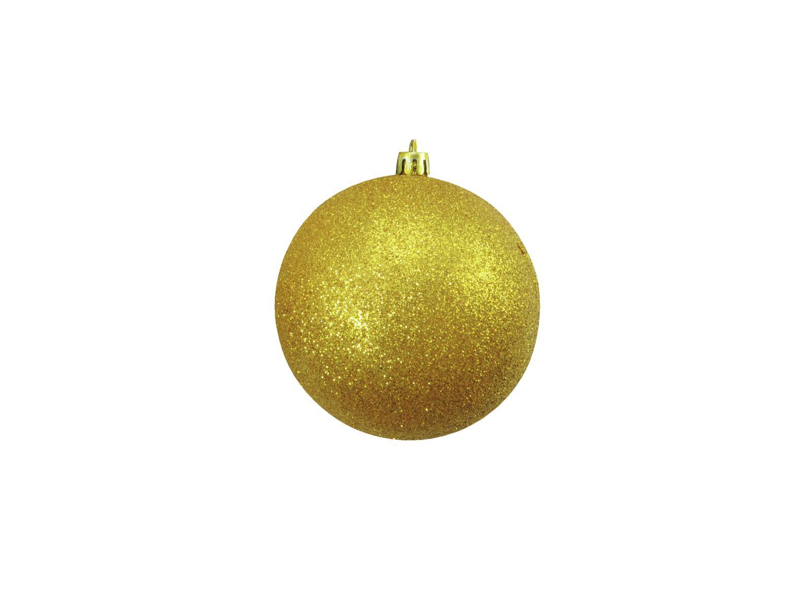 EUROPALMS Dekokugel 10cm, gold, glitzer 4x