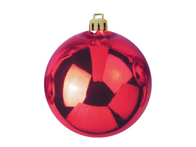 Balls Balls christmas Plastic 20Cm for Tree decoration 4 pcs Red
