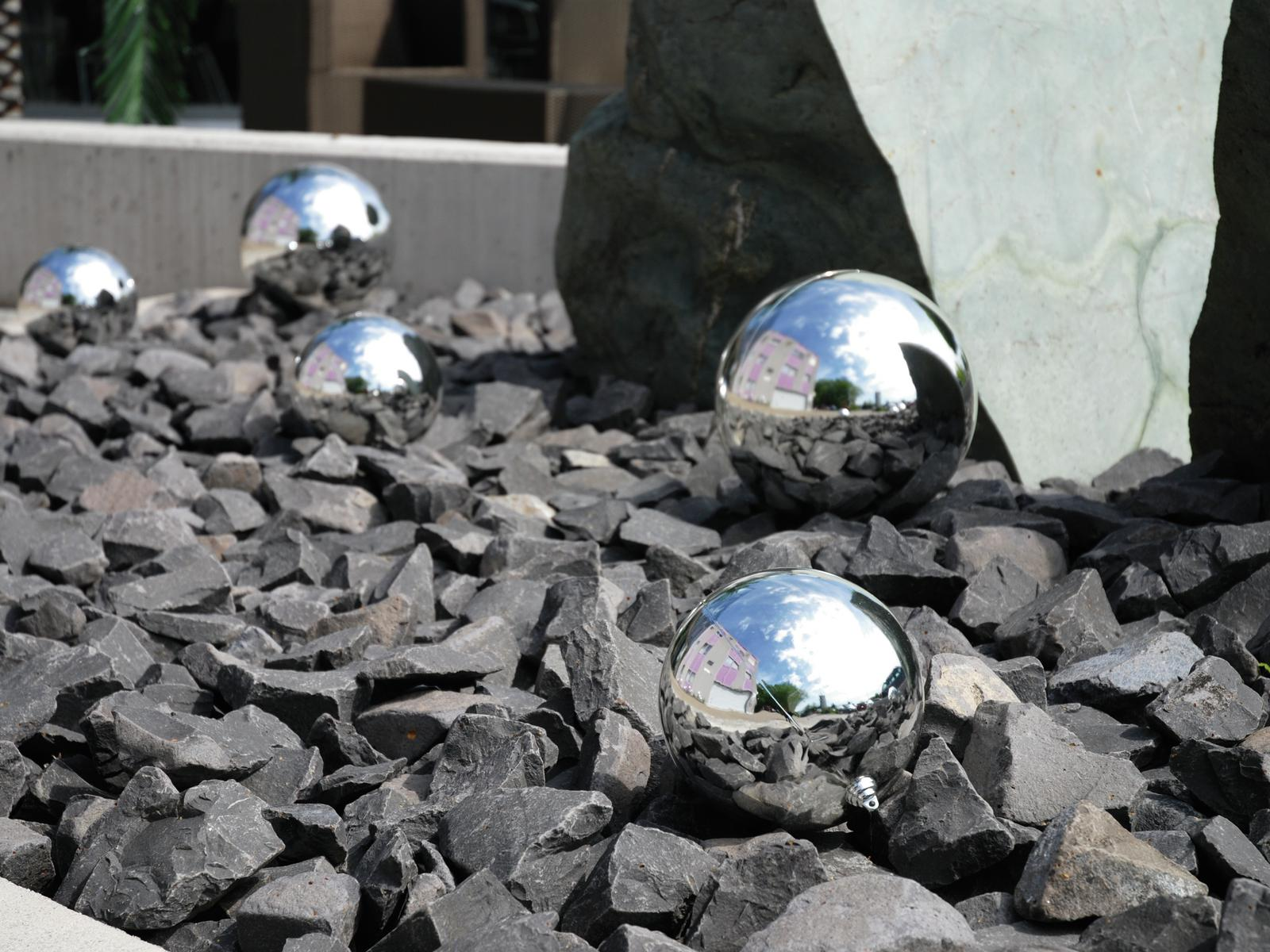 Balls Balls christmas Plastic 20Cm for Tree decoration 4 pcs Silver