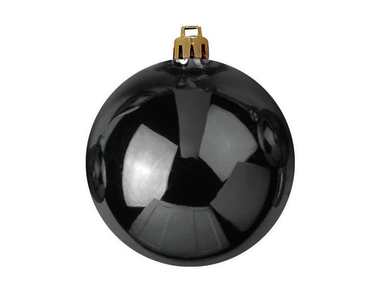 Balls Balls christmas Plastic 20Cm for Tree decoration 4 pcs Black