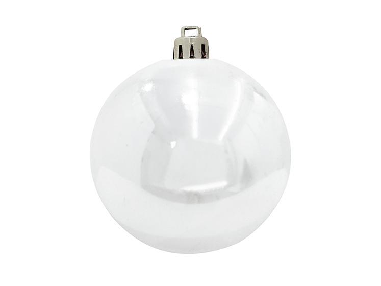 Balls Balls christmas Plastic 20Cm for Tree decoration 4 pcs White