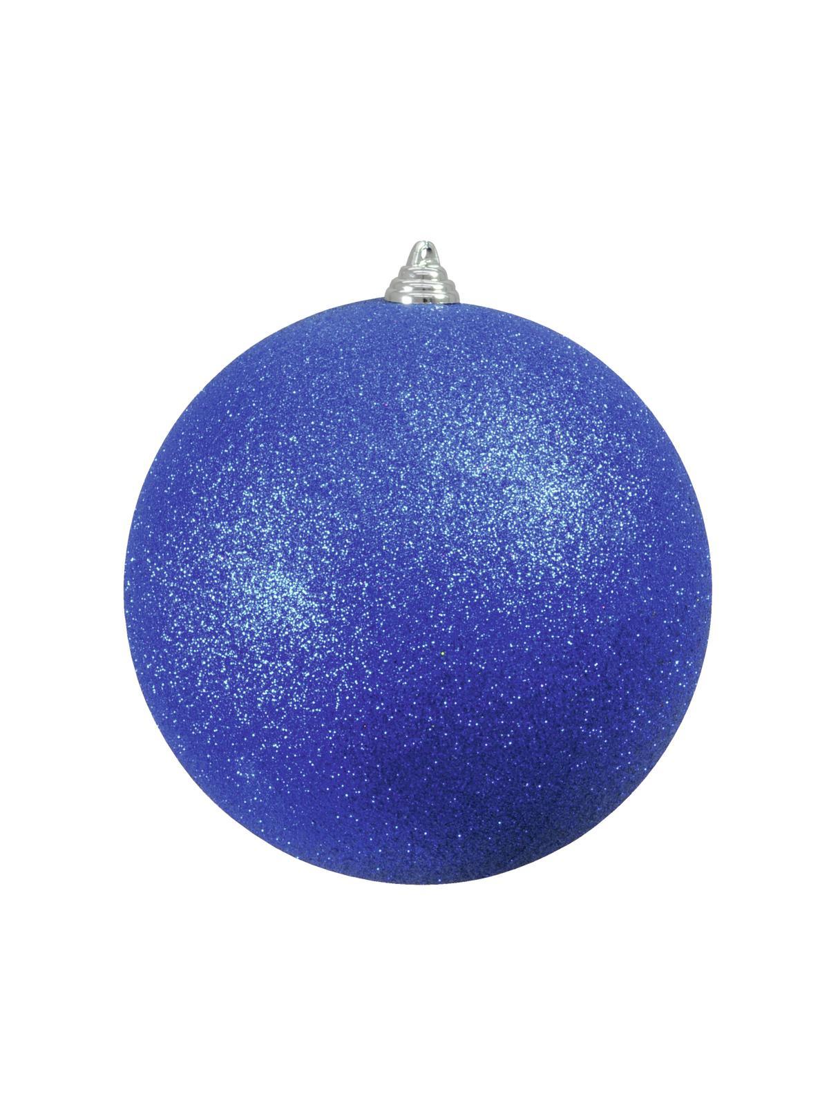 Balls Balls christmas Plastic 20Cm for Tree decoration 4 pcs Blue Glitter