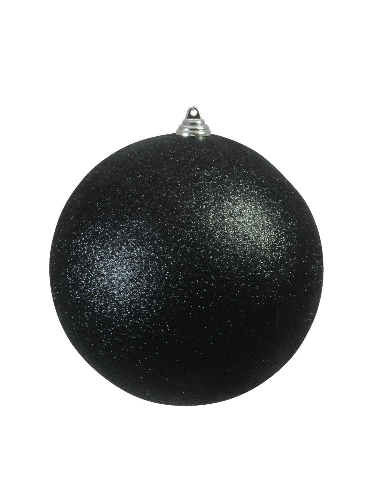Balls Balls christmas Plastic 20Cm for Tree decoration 4 pcs Black Glitter