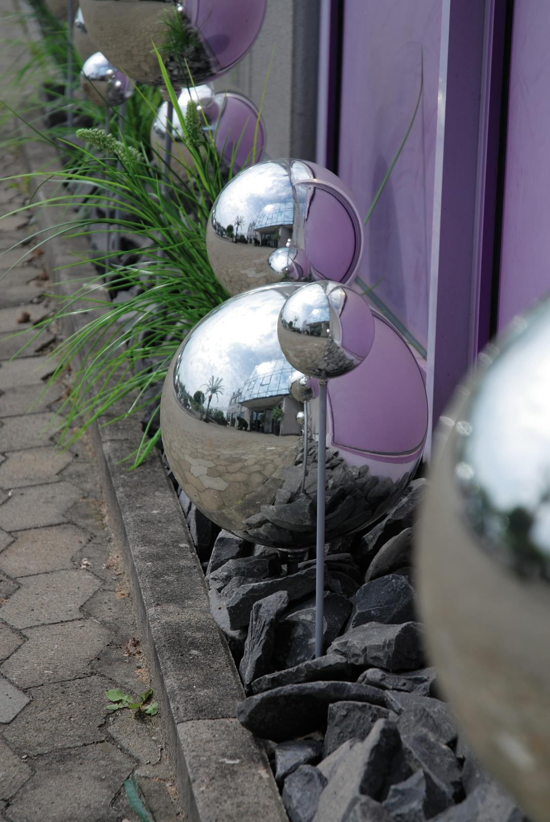 EUROPALMS Decoball 30 cm, argento