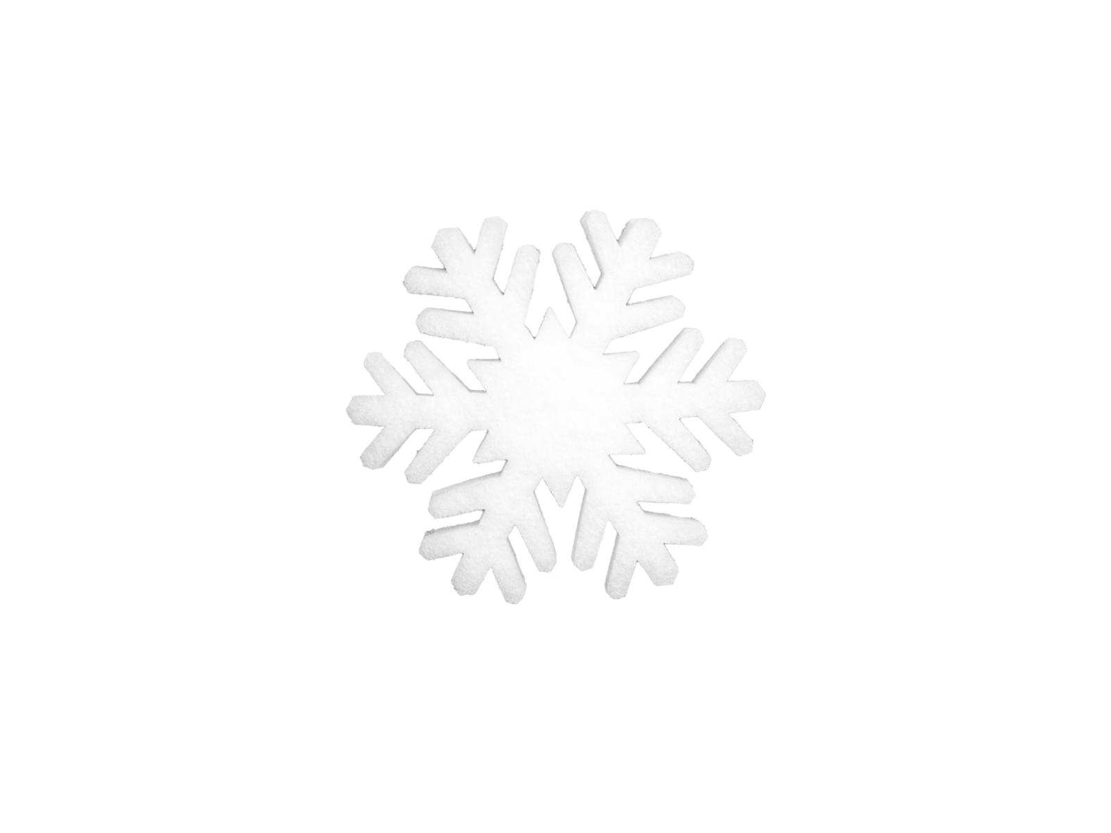 EUROPALMS Fiocco di neve stuoia, 17cm, fiamma retardent