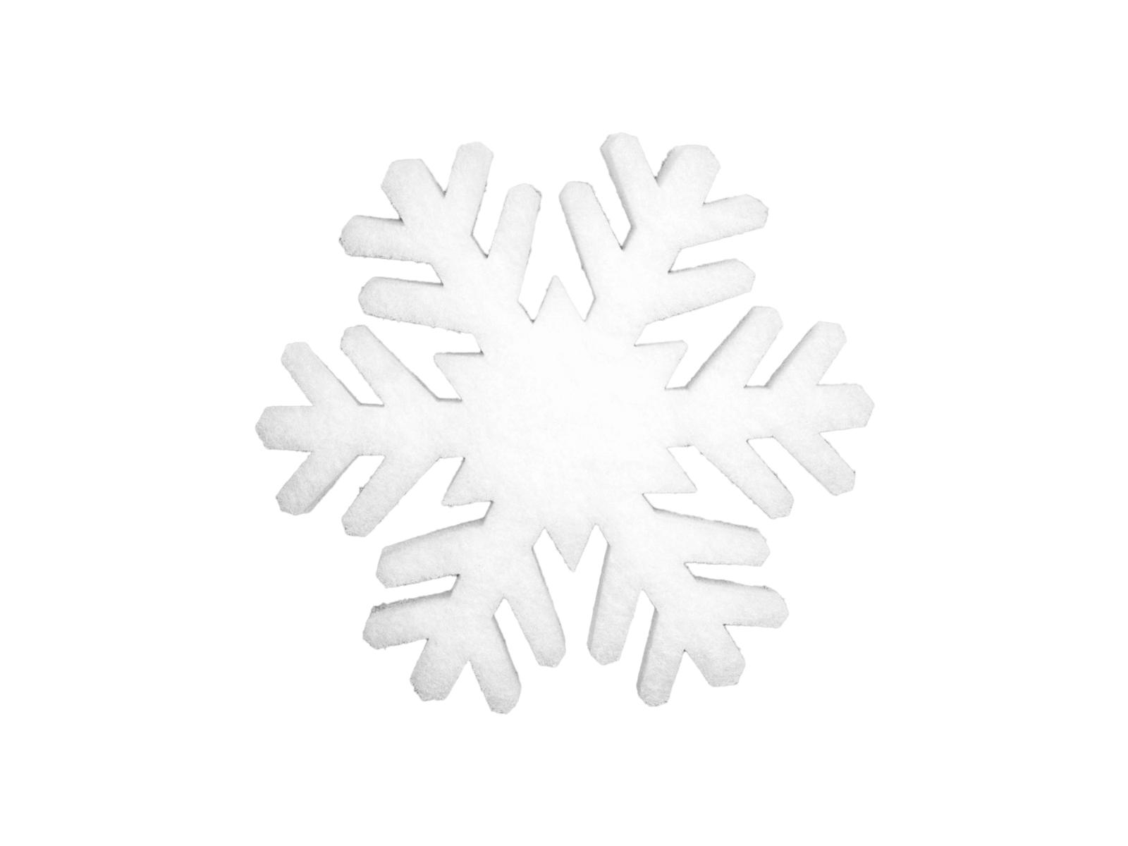 EUROPALMS Fiocco di neve stuoia, 41cm, fiamma retardent