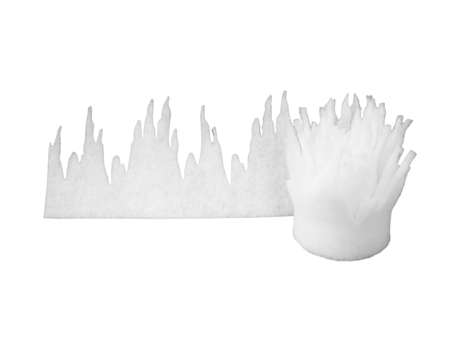 EUROPALMS Iceicle ghirlanda di Neve stuoia, 500x35cm, fiamma
