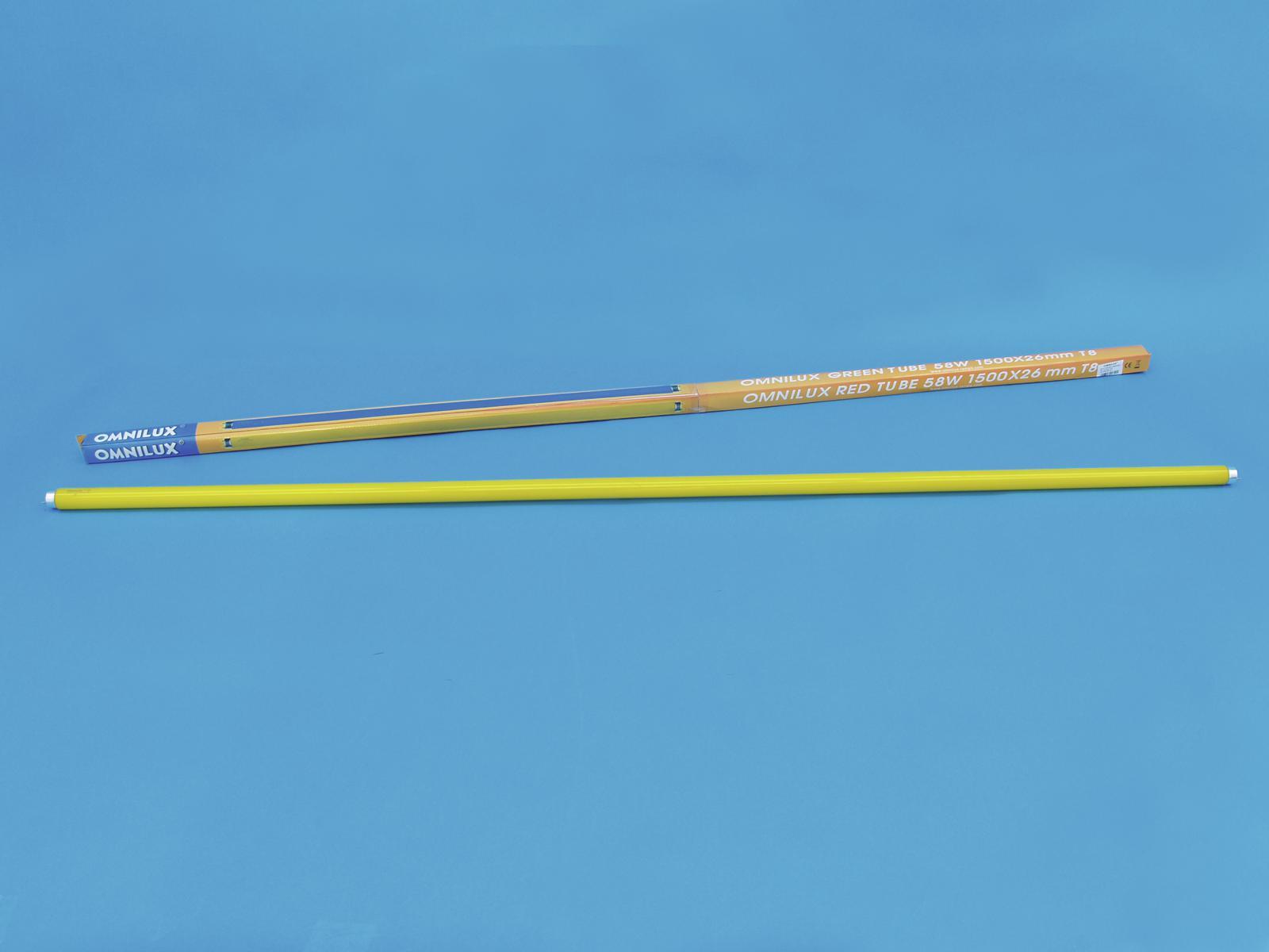 OMNILUX Röhre 58W 1500x26mm Farbglas gelb