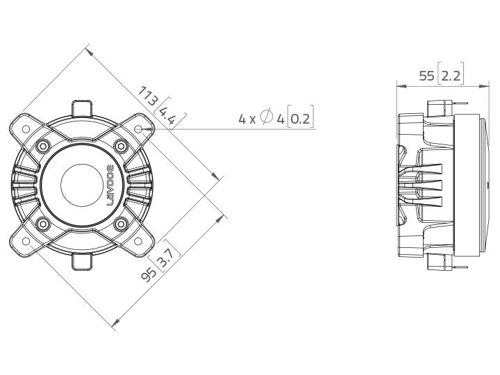 LAVOCE DF10.10L 1 Kompressionstreiber, Ferrit